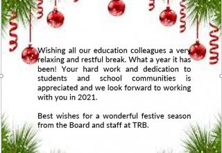 TRBNT Christmas Message